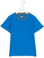 Armani Junior contrast neck T-shirt - kids - Cotton - 4 yrs