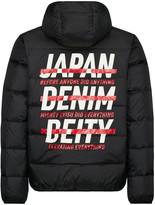 Evisu Slogan Printed Down Jacket