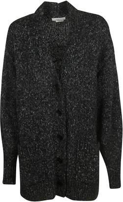 Isabel Marant V-neck Side Patch Long Buttoned Cardigan