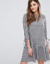 New Look Drop Waist Gingham Smock Dress