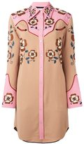 Coach embroidered shirt dress - women - Nylon/Spandex/Elastane/Cupro/Wool - 2