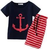 Little Spring LittleSpring Little Boys' Clothing Short Sets Striped Size 5 US