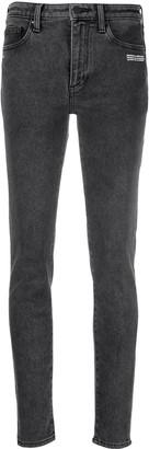 Off-White Logo-Print Skinny-Fit Jeans