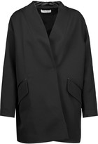 IRO Galdy oversized leather-trimmed wool-blend jacket