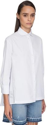 Ermanno Scervino Back Pleated Cotton Poplin Shirt