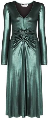 Rotate by Birger Christensen No 7 V-neck midi dress