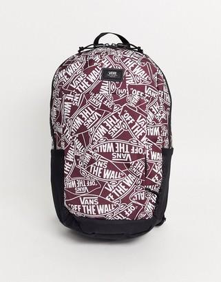 Vans Disorder backpack in burgundy-Red