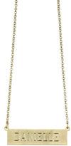 Danielle Stevens Gold Rectangle Nameplate Necklace