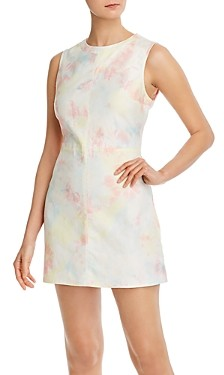 French Connection Sade Tie-Dyed Denim Mini Dress