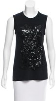 Vera Wang Embellished Sleeveless Top