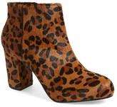 Topshop Women's 'Miles' Genuine Calf Hair Leopard Print Bootie