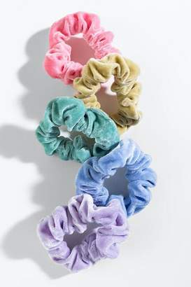 francesca's Corina Velvet Scrunchie Set - Multi