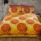 Rapport Pizza Double Bed Quilt Duvet Cover and 2 Pillowcase Bedding Bed Set Novelty Funky Food