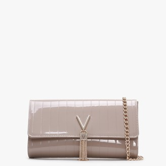 Valentino By Mario Valentino Bongo Taupe Patent Pochette Bag