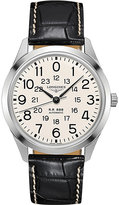 Longines L28034230 Railroad stainless steel and leather watch