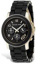 Michael Kors Black Rubber Strap Chronograph Watch, 39 mm