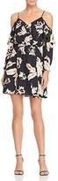 Aqua Floral Cold Shoulder Dress - 100% Exclusive
