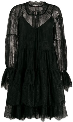 Ermanno Scervino lace tiered dress