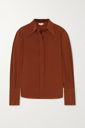 Victoria Beckham Crepe De Chine Shirt - Brown