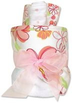 Trend Lab Hula Baby Floral Towel & Washcloth Gift Cake Set