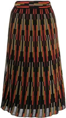 M Missoni stripe pattern knit skirt