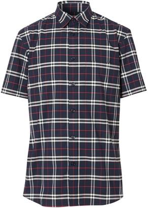 Burberry Check Short-Sleeve Shirt