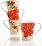 222 Fifth Winter Confetti 4-Pc. Mug Set