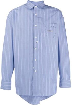 Ader Error Asymmetric Striped Shirt