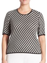 Stizzoli, Plus Size Striped Sweater