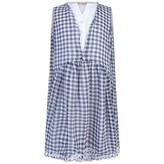 Miss Blumarine Miss BlumarineNavy Gingham Crepe Dress