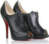 Christian Louboutin LADY DERBY 120 PEEP-TOE ANKLE BOOTIES