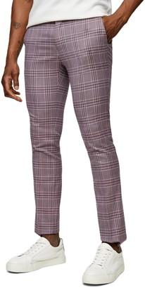 Topman Moda Super Skinny Check Pants