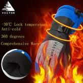 Vector Windproof Water Rebellent Winter Warm Thermal Snow Gloves Skiing Snowboarding Ski Gloves (L, )