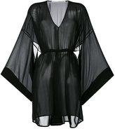 Isabel Benenato flared sleeves sheer dress - women - Silk - 40