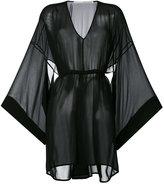 Isabel Benenato flared sleeves sheer dress