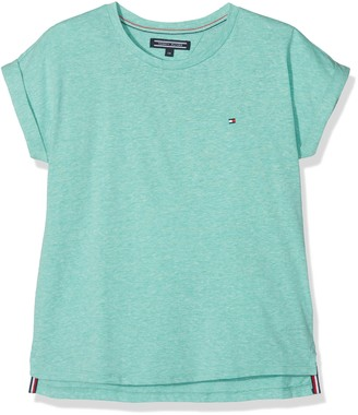 Tommy Hilfiger Girl's Essential Roll Up Sleeve Knit S/s T-Shirt