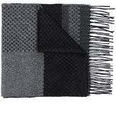 Canali intarsia fringe scarf - men - Silk/Cashmere - One Size