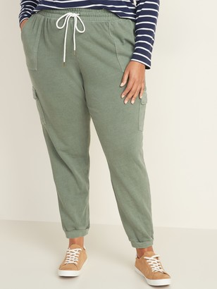 Old Navy Mid-Rise Plus-Size French Terry Cargo Street Joggers