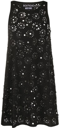 Boutique Moschino Floral Laser-Cut Shift Dress