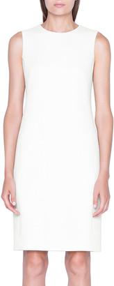 Akris Tweed Sleeveless Shift Dress