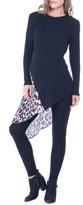 Olian Women's Leah Animal Print Side Tie Maternity Top