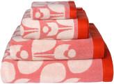 Orla Kiely Wallflower Towel - Bubblegum Cream Tomato - Bath Sheet