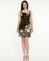 Le Château Floral Stretch Poplin Fit & Flare Dress