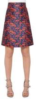 Akris Punto Women's Jacquard A-Line Skirt