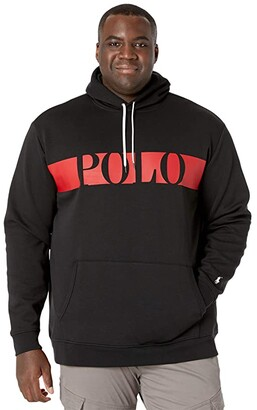 Polo Ralph Lauren Big & Tall Big Tall Logo Double-Knit Hoodie (Polo Black) Men's Clothing