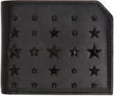 Jimmy Choo Black Mixed Stars Albany Wallet