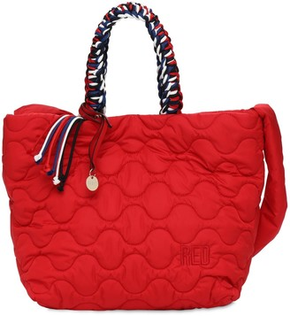 Red(V) Quilted Nylon Tote Bag
