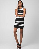 Le Château Stripe Jersey Crew Neck Mini Dress