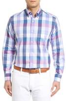 Tailorbyrd Men's Accona Regular Fit Buffalo Check Sport Shirt