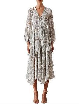 Shona Joy Quinn Tiered Midi Dress